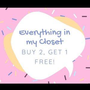 Everything B2G1 Free! Bundles 3+ Discounted Ship